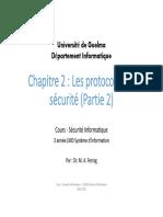Cours 3 Protocols de sécurité Partie 2