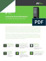 Biometrico Con Lector de Proximidad F16 ZK