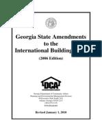 IBC 2006 Amendments - Georgia