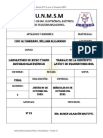 Informe Final Laboratorio N°01- MicroNano Sistemas