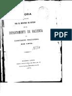 1870. Ministerio de Hacienda
