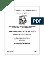 Alternativas de La Utilizacion Del Plasma y La Globina de La Sangre de Bovino