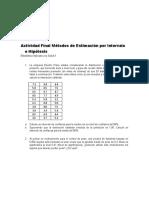 Actividad Final Métodos de Estimación por Intervalo e Hipótesis (Taller Grupal)