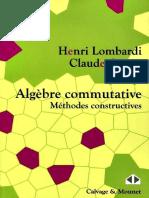 Algèbre Commutative Méthodes Constructives