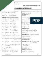 Calcul Integral Serie d Exercices 1 2