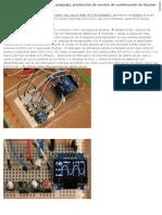 ラジオペンチ 0.96インチOLEDを使ったオシロ、機能確認版の製作 (Arduino)