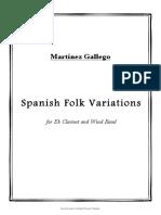 Spanish Folk Variations for Eb Clarinet and Wind Band. Martiěnez Gallego