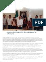 30/08/2019 Apoya Astudillo a Universitarios Que Van Al Extranjero