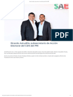 31/08/2019 Ricardo Astudillo, subsecretario de Acción Electoral del CEN del PRI