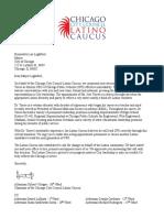 Latino Caucus Letter to Mayor Lightfoot