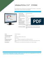 HP ProDisplay P222 21.5 K7X30AA
