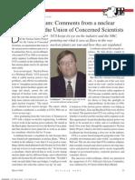 David Lochbaum-Nuclear Scientist