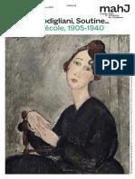 """Exposition """"Chagall, Modigliani, Soutine… Paris pour école, 1905-1940"""" au Musée d'art et d'histoire du Judaïsme, Paris"""
