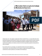 31/08/2019 Héctor Astudillo y Mercedes Calvo en gira de trabajo por la Montaña de Guerrero