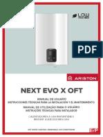 Manual Esquentador Ariston Next EVO X OFT 17L GasNatural