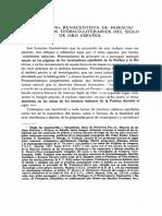 El Patron Renacentista de Horacio y Los Topicos Teorico Literarios Del Siglo de Oro Espanol
