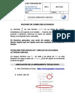MODELACION  RAZON DE CAMBIO RELACIONADAS