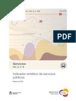 Indicador sintético de servicios públicos. Marzo de 2021. INDEC.