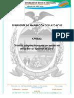 AMPLIACION DE PLAZO N° 02