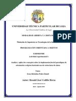 [APEB2-10%] Actividad Experimental 1 Analiza y Aplica Los Conceptos Sobre La Implementación Del Paradigma de Orientación a Objetos Haciendo Uso