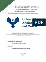 INFORME N5 LABORATORIO DE MECANICA DE FLUIDOS