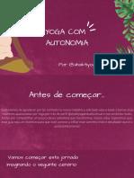 Yoga Com Autonomia
