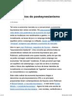 Os princípios do poskeynesianismo