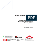 Water Balance Workshop - proceedings