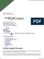 HTML Befehle Übersicht mit HTML5