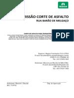 capa de oficio para permissão corte de asfalto prefeitura de cuiabá
