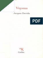 Jacques Derrida - Voyous. Deux essais sur la raison-Galilée (2003)