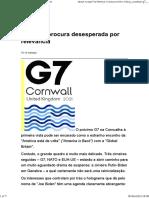 G7_ Uma procura desesperada por relevância