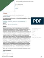 Gaps on rheumatologists' knowledge of physical activity - PubMed