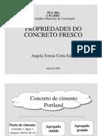 Propriedades do concreto fresco