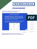 Leyes de Kirchhoff con Ejercicios de Ejemplos Facil