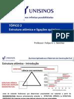 Tópico 2 - Estrutura atomica e ligações químicas