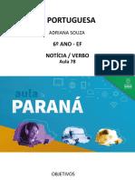 língua _ portuguesa_6 ano_ SLIDE aula 78