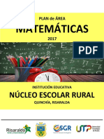 Plan de Area Matematicas Quinchia