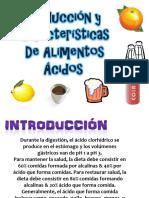 alimentos acidos