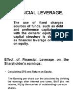 FINANCIAL LEVERAGE