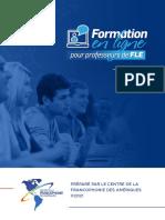 Cahier-Formation en Ligne Pour Professeurs de Fle-Juin 2021