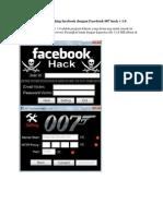 Belajar hacking facebook dengan Facebook 007 hack v 1.0