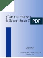 cómo se financia la educacn