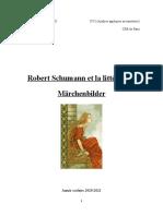 Robert Schumann Et La Literature - Mini Memoire