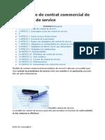 Modèle Type de Contrat Commercial de Prestations de Service
