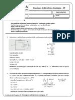 Eletrônica Analógica - Avaliação de Pesquisa 02