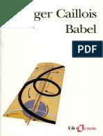 Babel Précédé de Vocabulaire Esthétique by Roger Caillois Caillois Roger z Lib.org