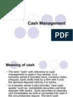 The Concept of Cash Management