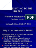 Why We Say No to the Rh Bill Updated Version