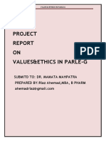 Project ON  ETHICAL VALUES
